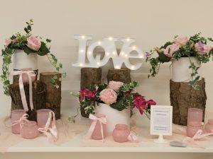 allestimento floreale per matrimoni con peonie e fiori