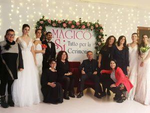 Staff festa Magico Si con luci e fiori