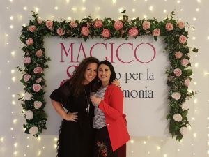 Wedding planner white flamingo con fiori e luci